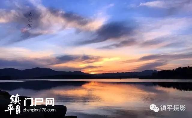 镇平蓝,太公湖晚霞美的让你心醉。